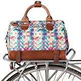 Po Campo Uptown Bike Trunk Bag | Stylish Bike Satchel for Rear Rack | Fits Bicycle Saddle Frame Behind Seat Bike Bags and Accessories for Women | Weatherproof Mosaic