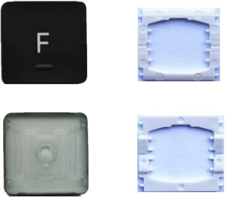 Replacement Individual F Key Cap and Hinges are Applicable for MacBook Pro A1706 A1707 A1708 Keyboard to Replace The F Key Cap and Hinge