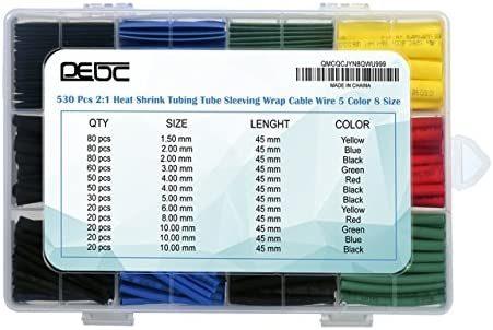 26 PC CALOR SHRINK TUBO 500 mm Alambre De Envolver Envoltura Coche Tubo de cable de cable eléctrico