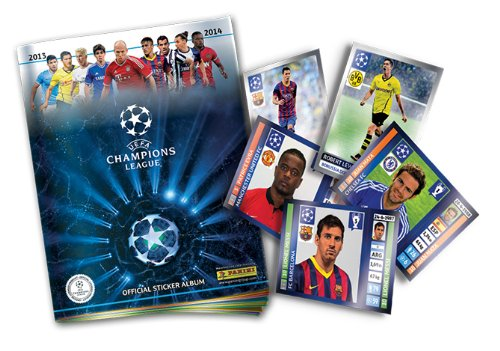PANINI UEFA Champion Leagues 2013 / 2014 BOX 50 Stickers Packs NEW