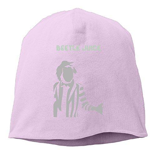[Caryonom Adult Beetlejuice Person Beanies Skull Ski Cap Hat Pink] (Tim Drake Costume)