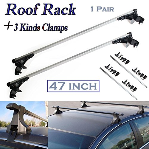 Hediy 47'' OEM Roof Rack Car Top Luggage Cross Bar Carrier Skidproof -Mount Onto For Your Car Top (1 Pair) -2 Year Warranty by Hediy