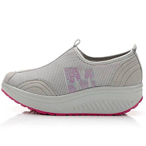 Scarpe Da Ginnastica Slip-on Mljsh Da Donna Fitness Allenano Sneaker Grigio