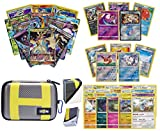 Totem World Pokemon Premium Collection Ultra Rare with 100 Pokemon Cards - Ultra Ball Theme Carrying Case - 100 Sleeves - Deck Box