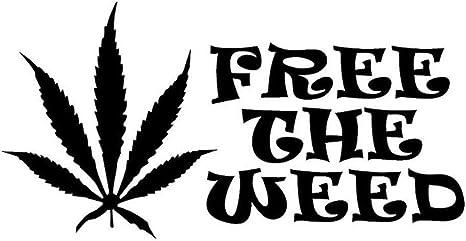 Free The Weed Marijuana Vinyl Decal Sticker | Cars Trucks