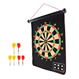 MonkeyJack Professional Magnetic Roll-up Dart Board and Bullseye Game with 6 Pieces Safety Magnetic Darts