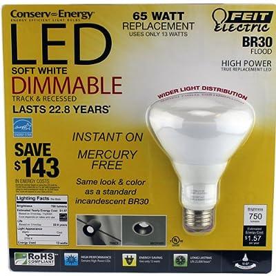 Feit 13 Watt BR30 LED Dimmable Flood Light Bulb (equiv to 65 watts)