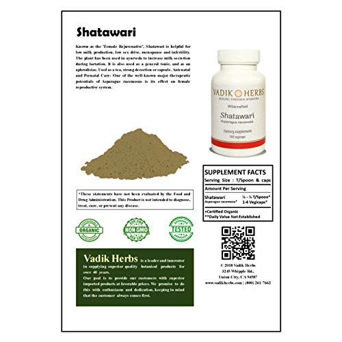 Certified-Organic-Vadik-Herbs-ShatawariShatavari-Asparagus-racemosus-Powder-3-Bottles-Capsules-Nourishing-Tonic-for-Men-and-Women-Balancing-for-Vata-and-Pitta-Promotes-Fertility