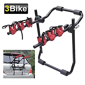 3 Bike TRUNK RACK Foldable Bike Carrier Bicycle Carier for Car (TRUNK CARRIER)