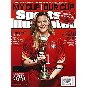 "Alyssa Naeher Autographed Sports Illustrated Magazine Team USA""2015 World Cup Champs"" ITP Stock #101460 PSA/DNA Certified"