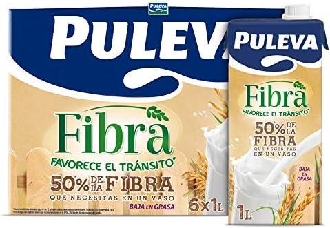 Puleva Bebida Láctea con Fibra - Paquete de 6 botellas x 1 L ...