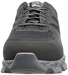 Timberland PRO Men\'s Powertrain Alloy Toe ESD Industrial Shoe,Black/Grey Microfiber And Textile,10.5 W US