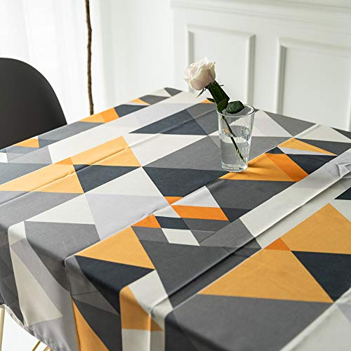 Mantel para Mesa Patron de Triangulo Geometria de Cocina Salon Rectangular Impermeable Lavable Diseno de Comedor Decoracion del Hogar Oficinas (39 * 55in/100 * 140cm)