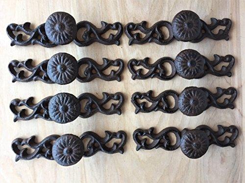 BI01DT060_16 - Antique Replica Brown/Black Drawer Pull/Handle (16pcs) ()
