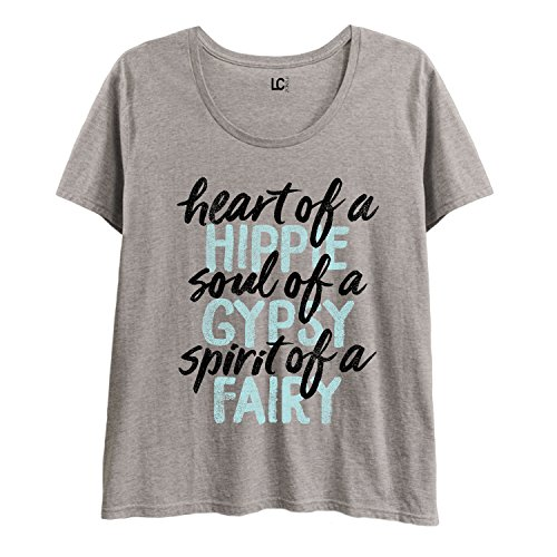 Heart-Of-A-Hippie-Soul-Of-A-Gypsy-Spirit-Of-A-Fairy-Ladies-Plus-Size-Scoop-Neck-Tee