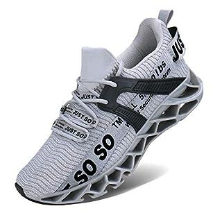 COKAFIL Mens Walking Shoes Running Athletic Fashion Tennis Blade Sneakers, F-grey, 10