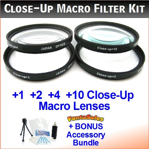 55mm Digital High-Resolution Close-Up Macro Filter Set with
