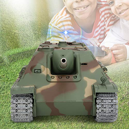 Remote Control Tank, 2.4g Remote Control Large Model Toy 1:16 RC Battle Tank Destroyer Kit with Charger, Electric Toy…