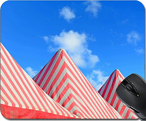 MSD Natural Rubber Mousepad Mouse Pads/Mat design: 32386913 white and red tents under a blue - Tent Cirque