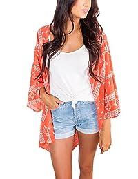 3d8b2d231b824 Yonala Womens Summer Fashion Printed Beach Wear Bikini Cover up Swimwear  Beachwear