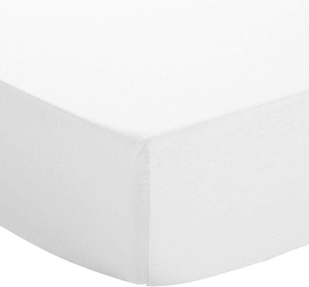 atmosphere Lenzuolo con Angoli in Tinta Unita 140 x 190 cm Atmo Bianco