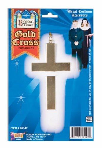 Forum Novelties 28147 Unisex-Adults Gold Cross-Metal, Golden, Standard, Multicolor]()
