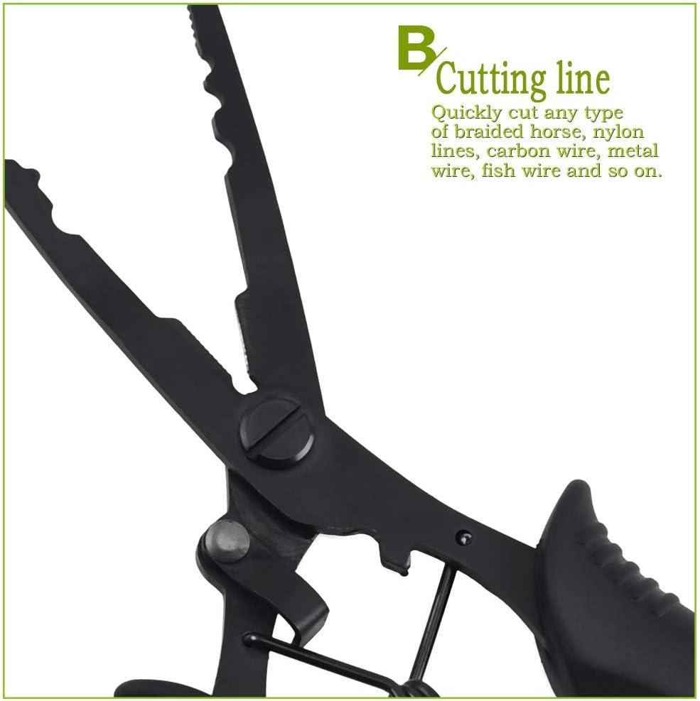 Alicates de pesca port/átil de acero inoxidable Luya herramienta con vaina y cuerda para exteriores Million Source