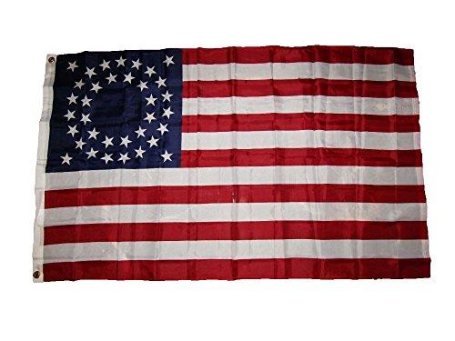 3X5 Usa American 35 Stars Union Circular Flag 3'X5' Banner Brass ()