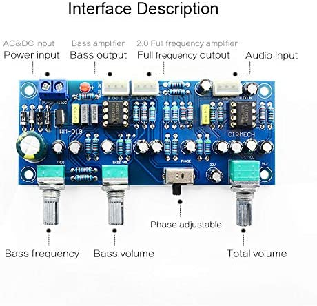 SovelyBoFan 2.1-Kanal Subwoofer Preamp Board Tiefpassfilter Vorverst/ärker Verst/ärker Board Ne5532 Tiefpassfilter Bass Vorverst/ärker