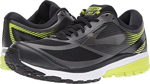 Image of the Brooks Men's Ghost 10 GTX Black/Ebony/Lime Popsicle 10.5 D US
