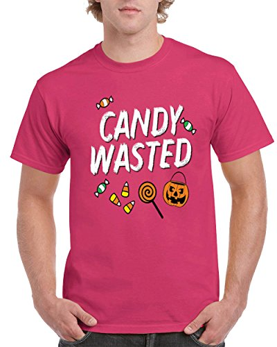 Halloween Candy Wasted Mens T-Shirt Pumpkin Scary Costume Spooky Skeleton Trick (Top 20 Halloween Costumes Youtube)