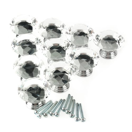 vktech glass clear cabinet knob - 3