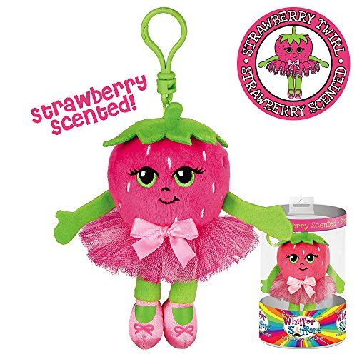 Dance Bag Clip - Whiffer Sniffers Strawberry Twirl Scented Ballerina Plush Backpack Clip