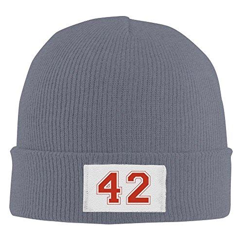 42 Number America Legend Acrylic Beanie Knit Hat Asphalt ()
