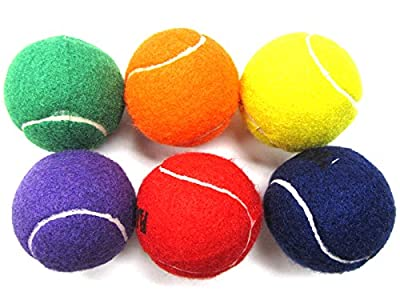 Coast Athletic Color Tennis Ball Set - 6 PACK