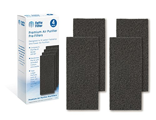 Fette Filter - Air Purifier Pre-Filters Compatible with Honeywell HRF-B2 and HRF-B1 Filter B. Pack of 4