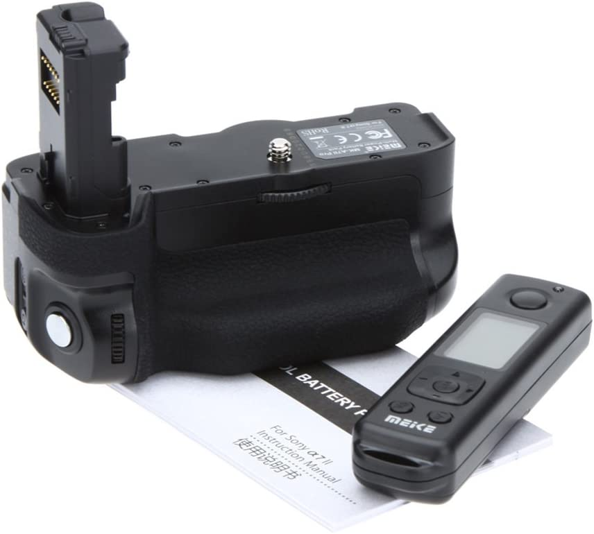 Meike MK-A7II Pro Built-in 2.4G Wireless Control Battery Grip for Sony A7R II A7 II as VG-C2EM