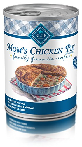 Blue Buffalo Family Favorites Natural Adult Wet Dog Food, Mom's Chicken Pie 12.5-oz can (Pack of 12)