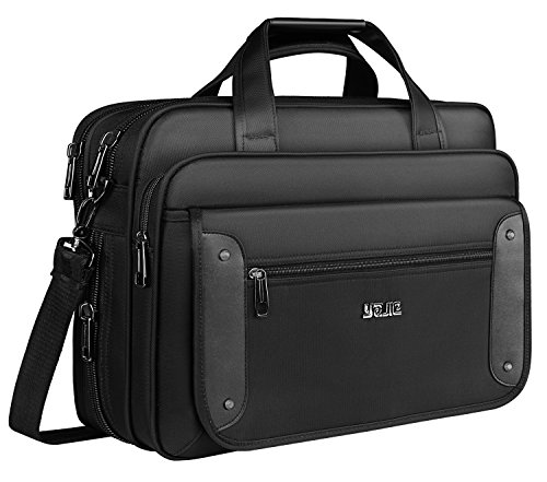 Stylish Rolling Briefcase (Laptop Briefcase, 15.6 inch Laptop Bag, Business Office Bag for Men Women,Stylish Nylon Multi-functional Organizer Messenger Bags for Men Women Fit for 15.6 inch Notebook Macbook Tablet - Black)