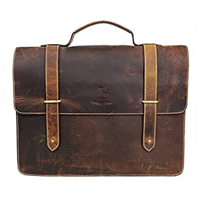 high-quality Briefcase for Men Women Leather Laptop Bag 15.6inch Satchel Large Capacity Delta