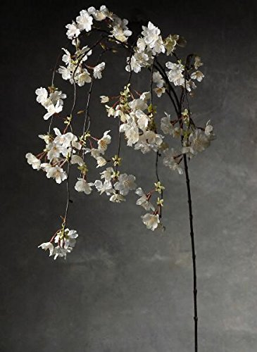 Richland Hanging Cherry Blossom Branches White Silk Artificial 58