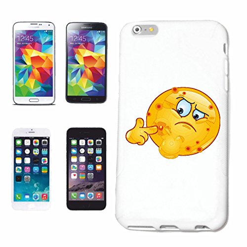 "cas de téléphone iPhone 5 / 5S ""ACNE SMILEY POUSSER LE PIMPLE OFF ""sourire EMOTICON APP de SMILEYS SMILIES ANDROID IPHONE EMOTICONS IOS"" Hard Case Cover Téléphone Covers Smart Cover pour Apple iPhone"