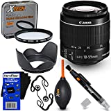 Canon EF-S 18-55mm f/3.5-5.6 is Mark II Zoom Lens for Canon DSLR Cameras (International Version) + 7pc Bundle Accessory Kit w/HeroFiber Ultra Gentle Cleaning Cloth