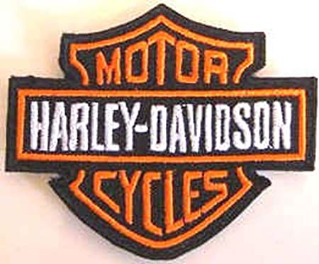 Motorcycles Biker Harley D Embroidered Iron on Sew on Patch Badge