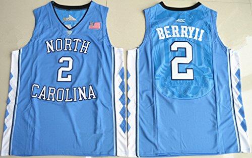 Mens North Carolina Tar Heels Joel Berry II #2 College Basketball Jersey Blue XL