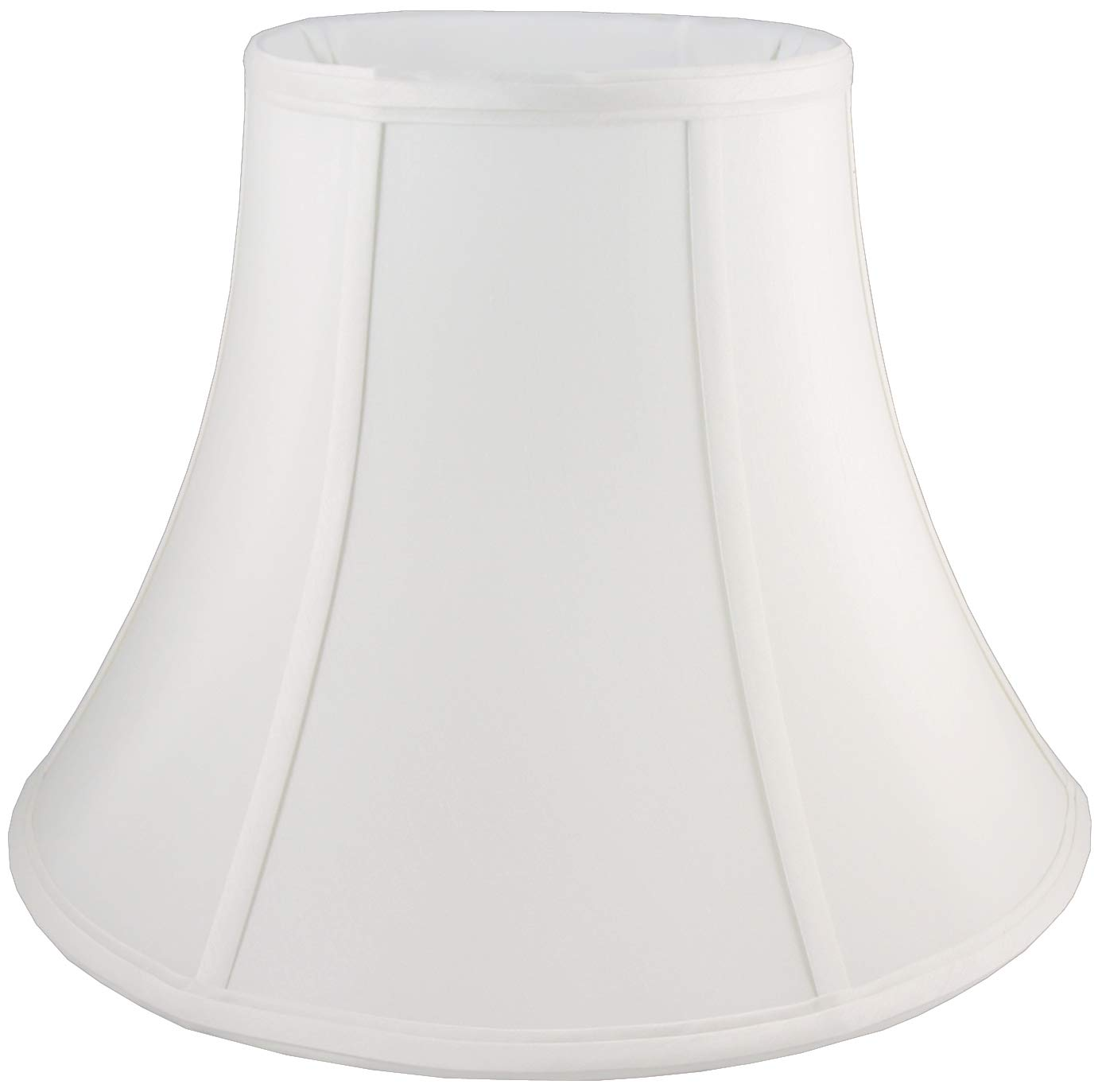 American Pride 9''x 18''x 13.5'' Round Soft Tailored Lampshade, Shantung, Off-white