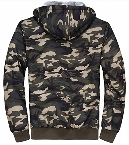 1 Zip Hoodie Outerwear Mens Classic Sweatshirt Lined M Wool amp;S amp;W Camo 7wUUqP