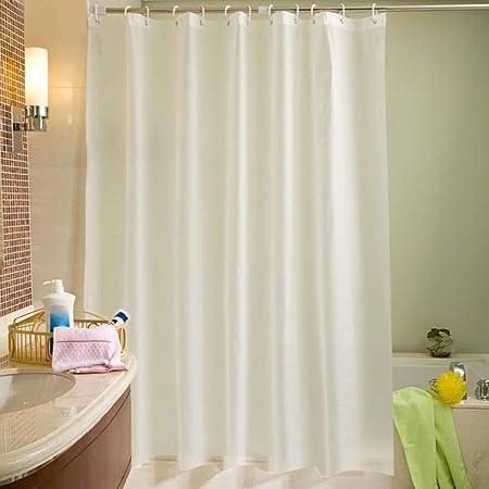 Duschvorhang für Badzimmer Wasserdicht Anti Schimmel mit Haken Grau 180 x 200cm