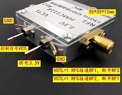 Quickbuying 1pcs HMC1118 Broadband Switch 13GHz with CNC Case SPDT Non-Reflective Single Pole Double Throw