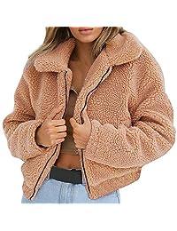 Womens Full Zipper Long Sleeve Oversize Fleece Hoodies Pullover Jacket Outwear